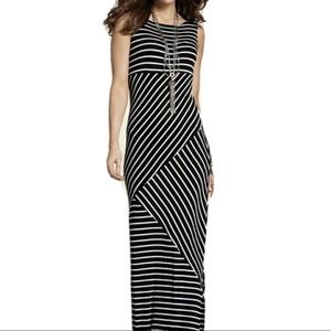 Travelers By Chicos Womens Black White Maxi Dress